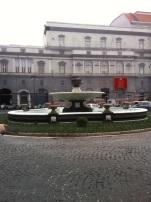 La fontana pronta per l'inaugurazione