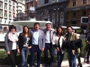 La famiglia Percuoco proprietaria dell'azienda Caffè Moreno sponsor del restauro